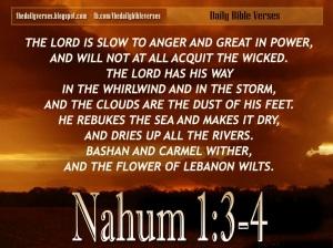 Nahum 1.3-4